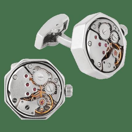 Запонки с часовым механизмом Tourbillon