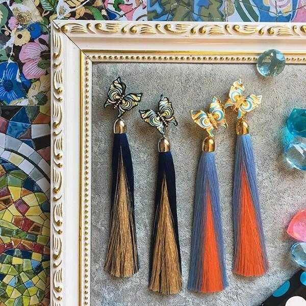 "Серьги-кисти ""Fantasies of Gaudi"" by Alena Romanova"
