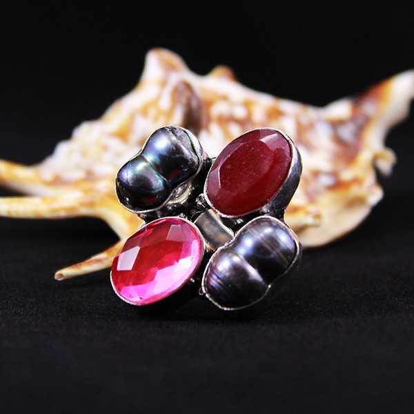 """Кольцо с камнями """"Тайны Тибета"""""""