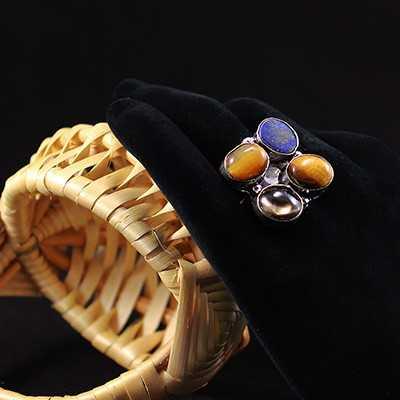 """Кольцо с натуральными камнями """"Tiger"""""""