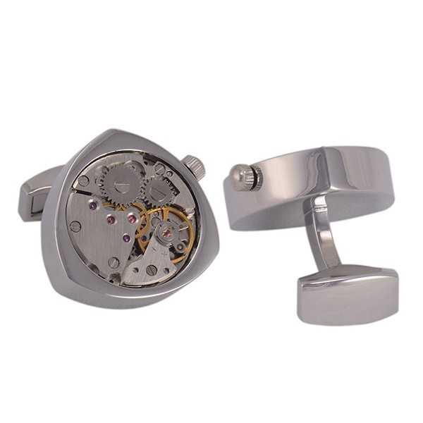 Запонки с часовым механизмом Hrono № 9