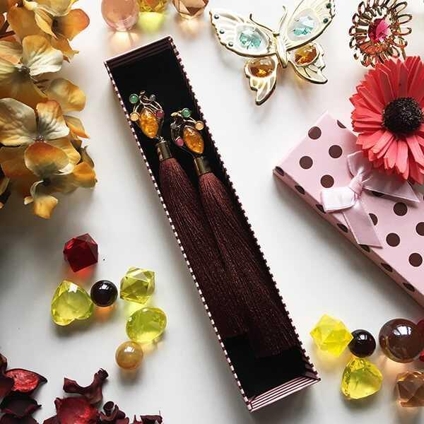 Дизайнерские серьги-кисточки от ювелирного бренда Diamondz