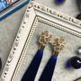 Синие серьги-кисти