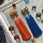 Дизайнерские серьги-кисточки