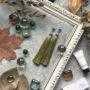 Оливковые серьги-кисти